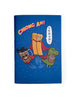 "Super Kopitiam Heroes ""Chiong Ah!"" A6 Notebook in blue with Jack Teh Peng, You Tiao and Milo Dinosaur"