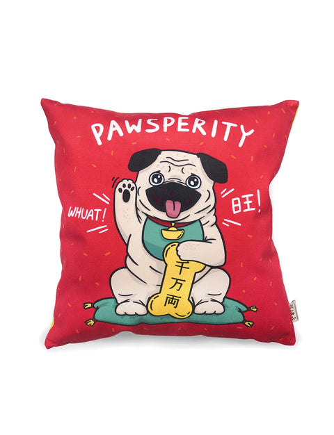 Pawsperity Pug Cushion Cover