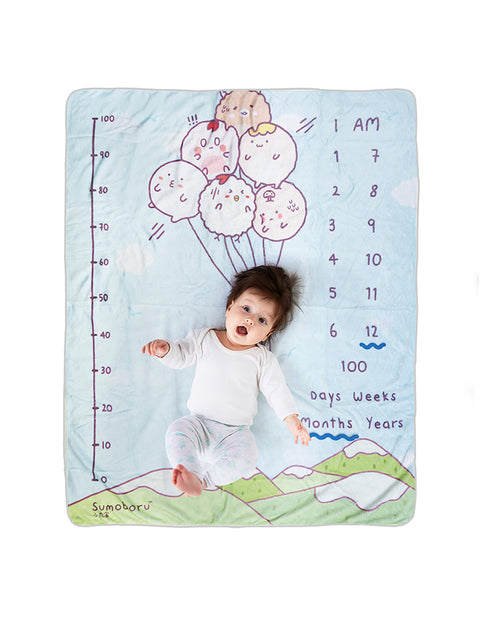 Sumoboru balloons cute baby photo mat as baby shower gift!