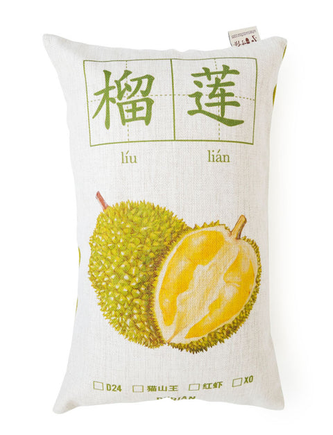 Durian rectangular cushion cover in white