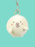 Cute fishball character as plushie keychains with cute shocked expression (・o・)