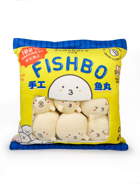 Sumoboru Fishbo Pack - unique plushie stuffed toy with cute characters