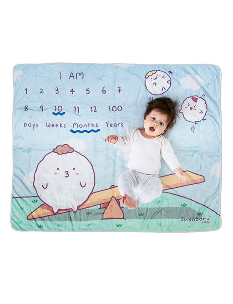 Sumoboru seesaw cute baby photo mat as baby shower gift!