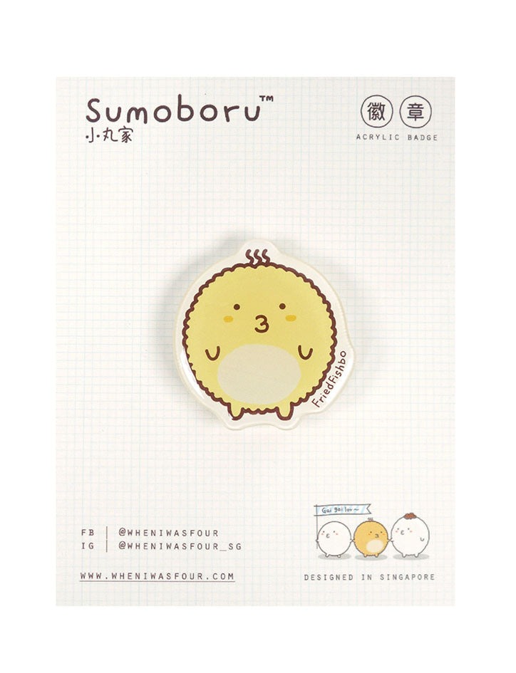 Singapore cute fried fishball character pin