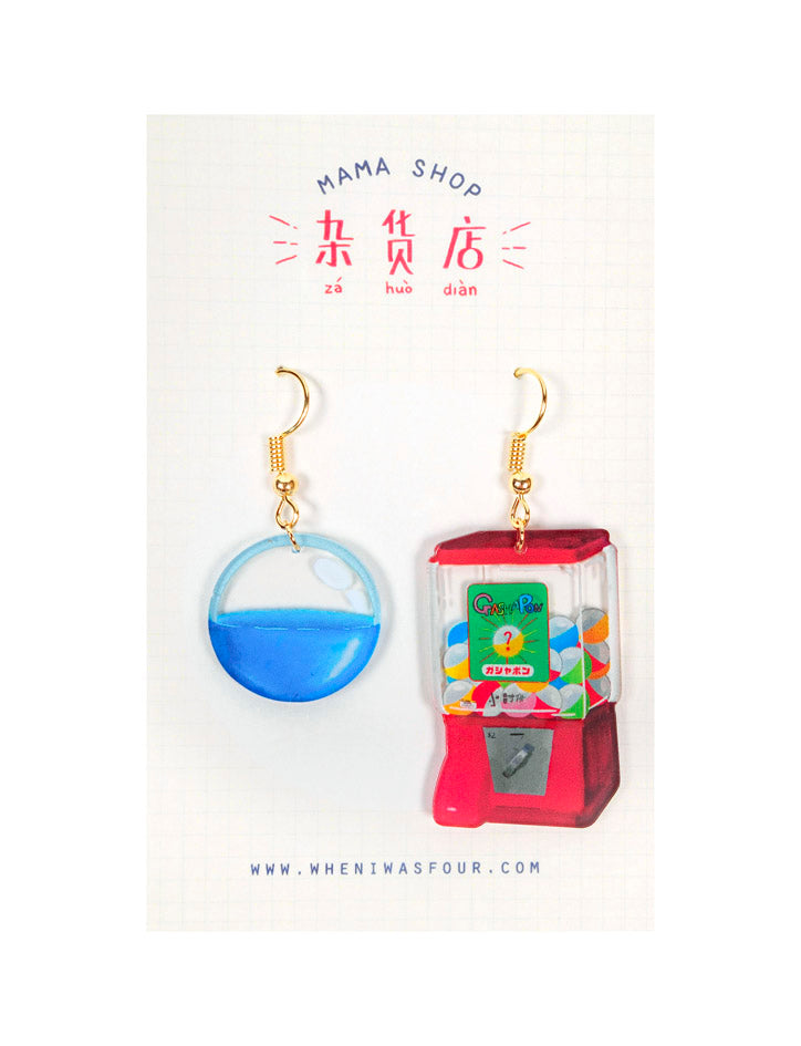Gachapon Machine Earrings