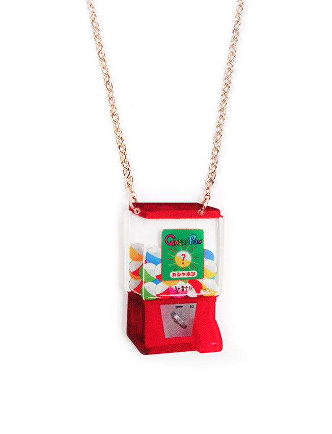 Cute, quirky and nostalgic gachapon necklace
