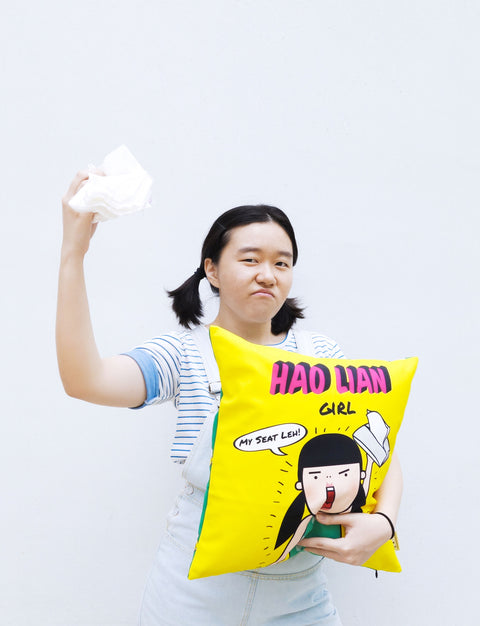 Hao Lian (Arrogant) Girl Cushion Cover