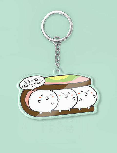 Ice-cream Sandwich Fishbo Keychain