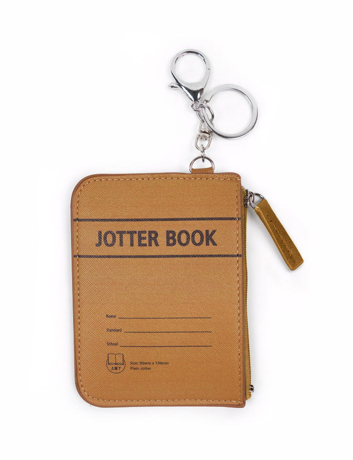 Two-in-one Card and Coin Holder in brown - Jotter Book