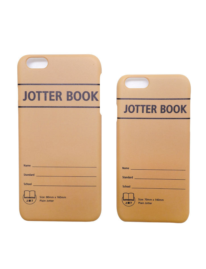 Brown Jotter Book iPhone Cover in brown