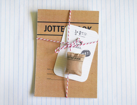 Jotter Book Pin and Postcards Set