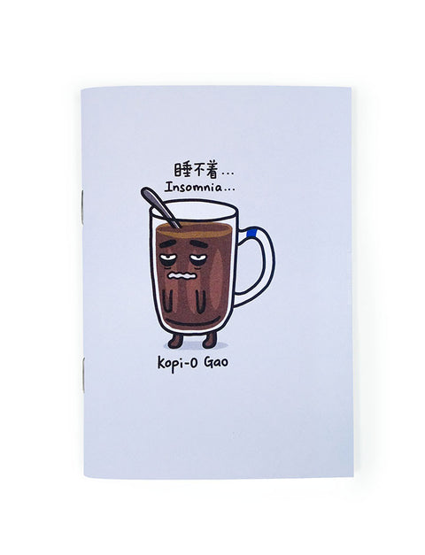 Kopitiam Heroes - Kopi-O Gao A6 Notebook in grey