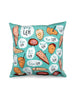 Singlish: Lah - square cushion cover for home decor in turquoise