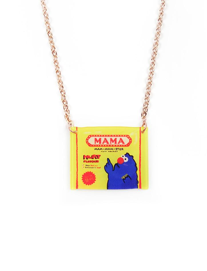 Cute and quirky Mamee necklace inspired by your favourite childhood snacks