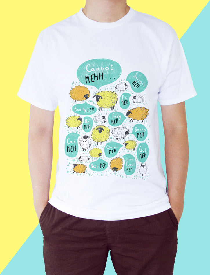 Happy Meh Meh Tee (with Kids' Sizes)