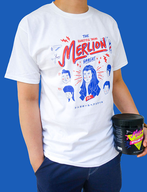Merlion Hairstyle T-Shirt (Men's Hairstyle)