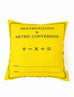 Multiplication & Metric Conversion Square Cushion Cover in yellow