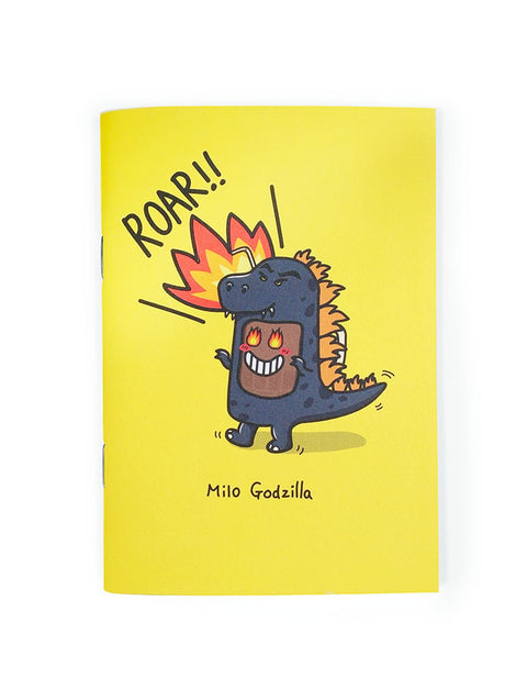 singapore milo godzilla notebook