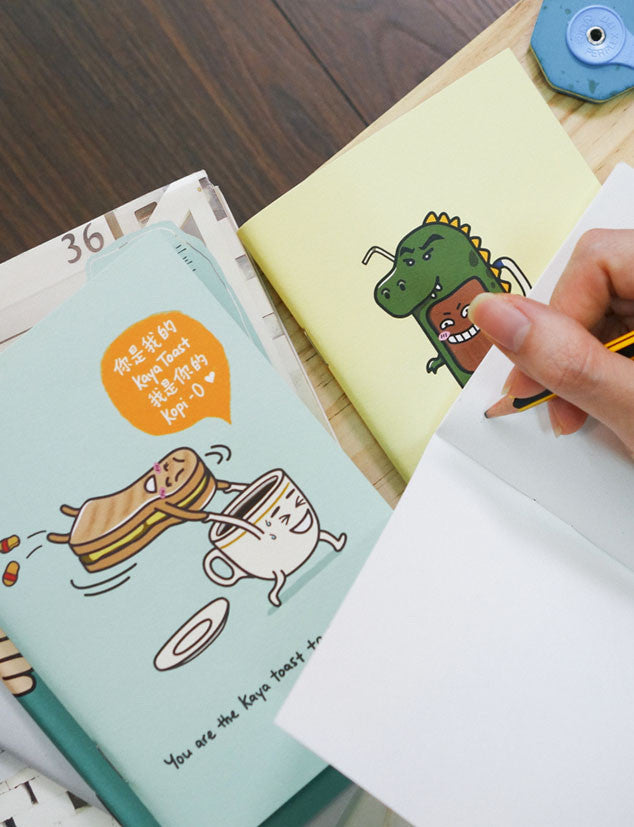Set of 3 Super Kopitiam Heroes A6 Notebooks