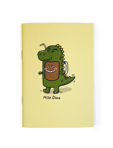 Kopitiam Heroes - Milo Dinosaur A6 Notebook in yellow