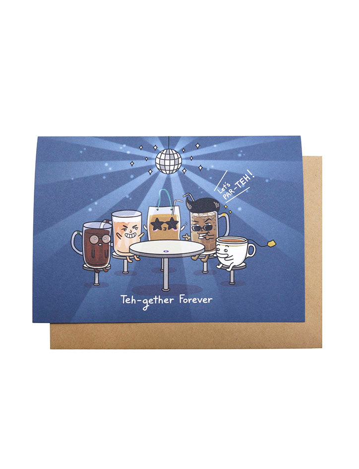 Teh-gether Forever Greeting Card