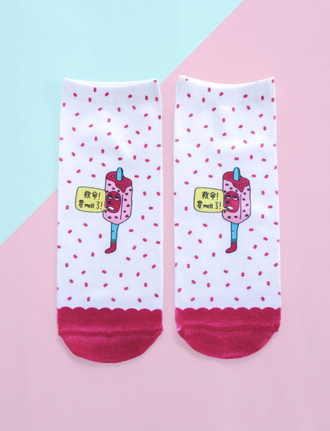Mr Potong Ice Cream Socks