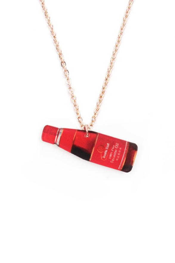 Funny sesame oil necklace for your quirky friends!