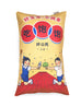 Good Citizen Rectangular Cushion Cover in yellow and red - 好宝宝, 不挑食