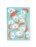 "Singlish ""Sia"" Blue A6 Notebook with prawn designs"