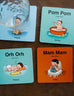 Wooden Singlish Baby Talk Coasters (Set of 4)