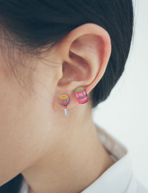 Singapore Mama Shop Earrings - Chupa Chups & Hawkflakes
