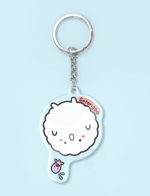 Cute sotong ball character as a keychain
