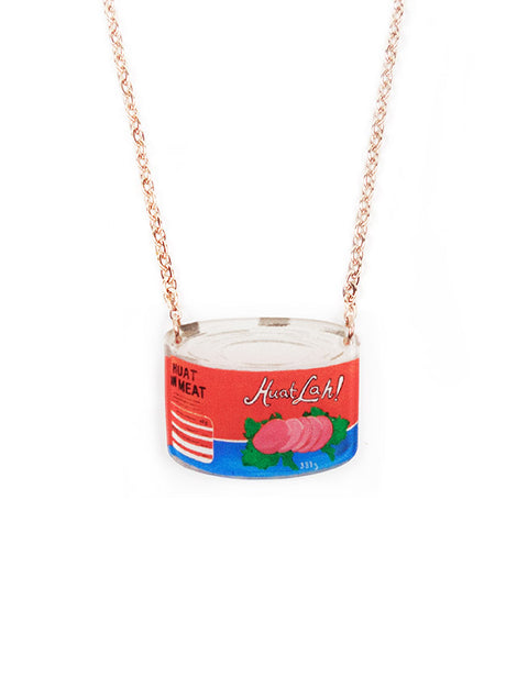 Eccentric Spam Can necklace inspired by nostalgic Mama Shop products