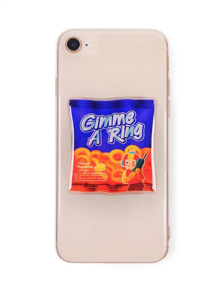 Blue and orange pop socket inspired by nostalgic snacks - Gimme A Ring (Super Ring)