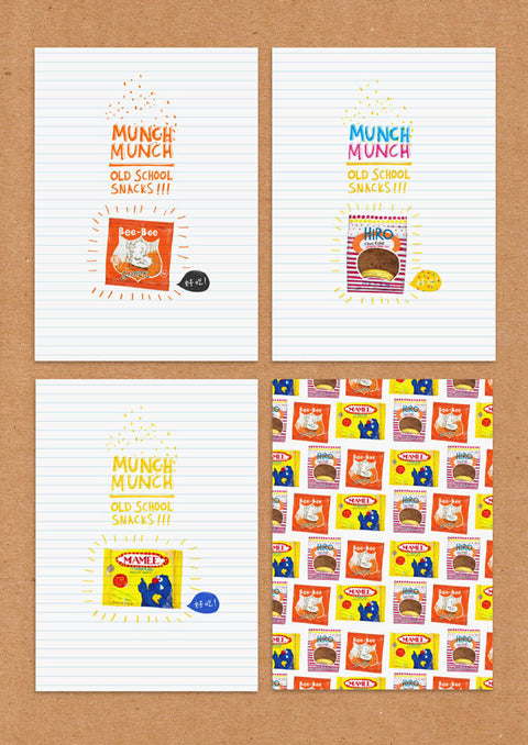 Childhood Snacks Postcards