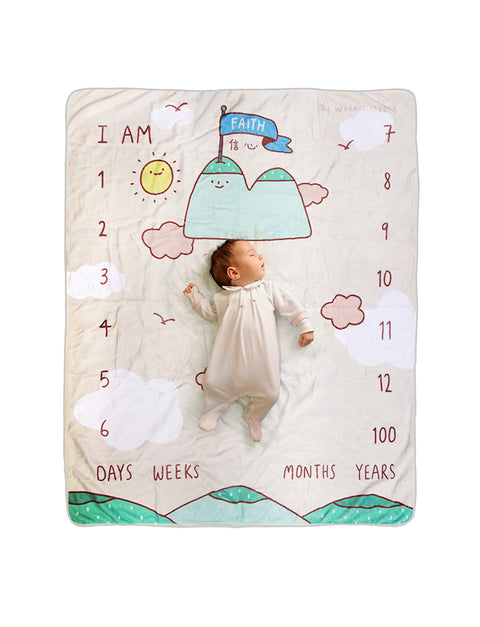 Faith mountain cute baby photo mat as baby shower gift!
