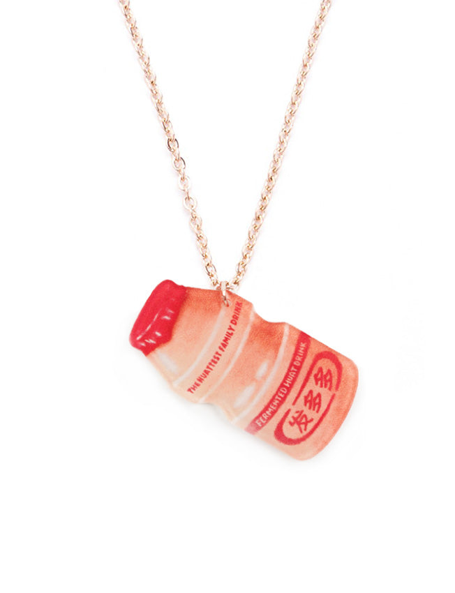 Fun and quirky Yakult inspired necklace