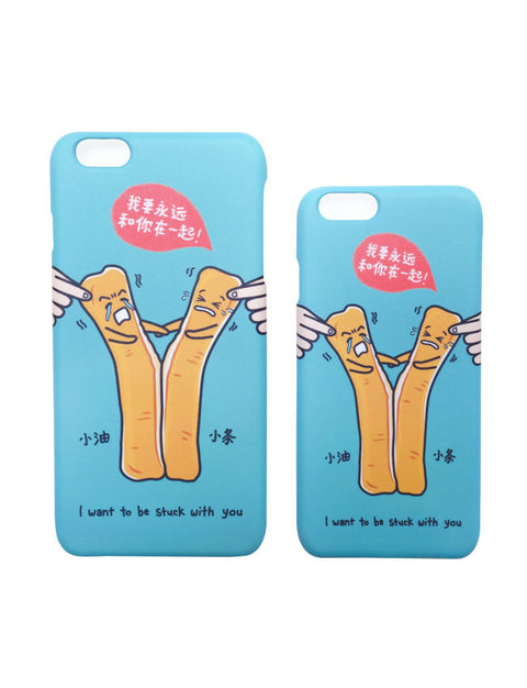 Cute Youtiao iPhone Cover- Kopitiam Characters