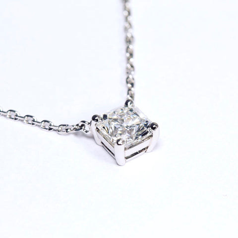 bespoke Dimond necklace princess cut and platinum