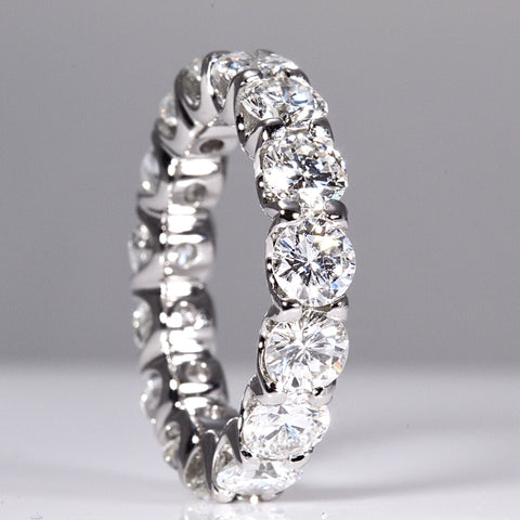 full diamond set eternity band wedding ring in platinum