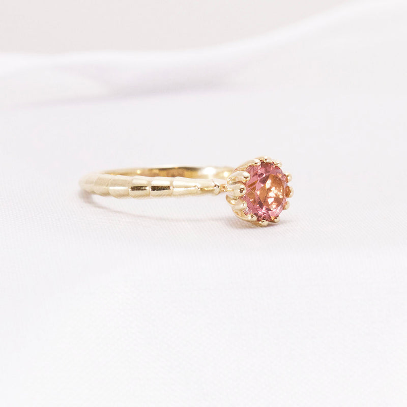 Tourmaline Yellow Gold Ring