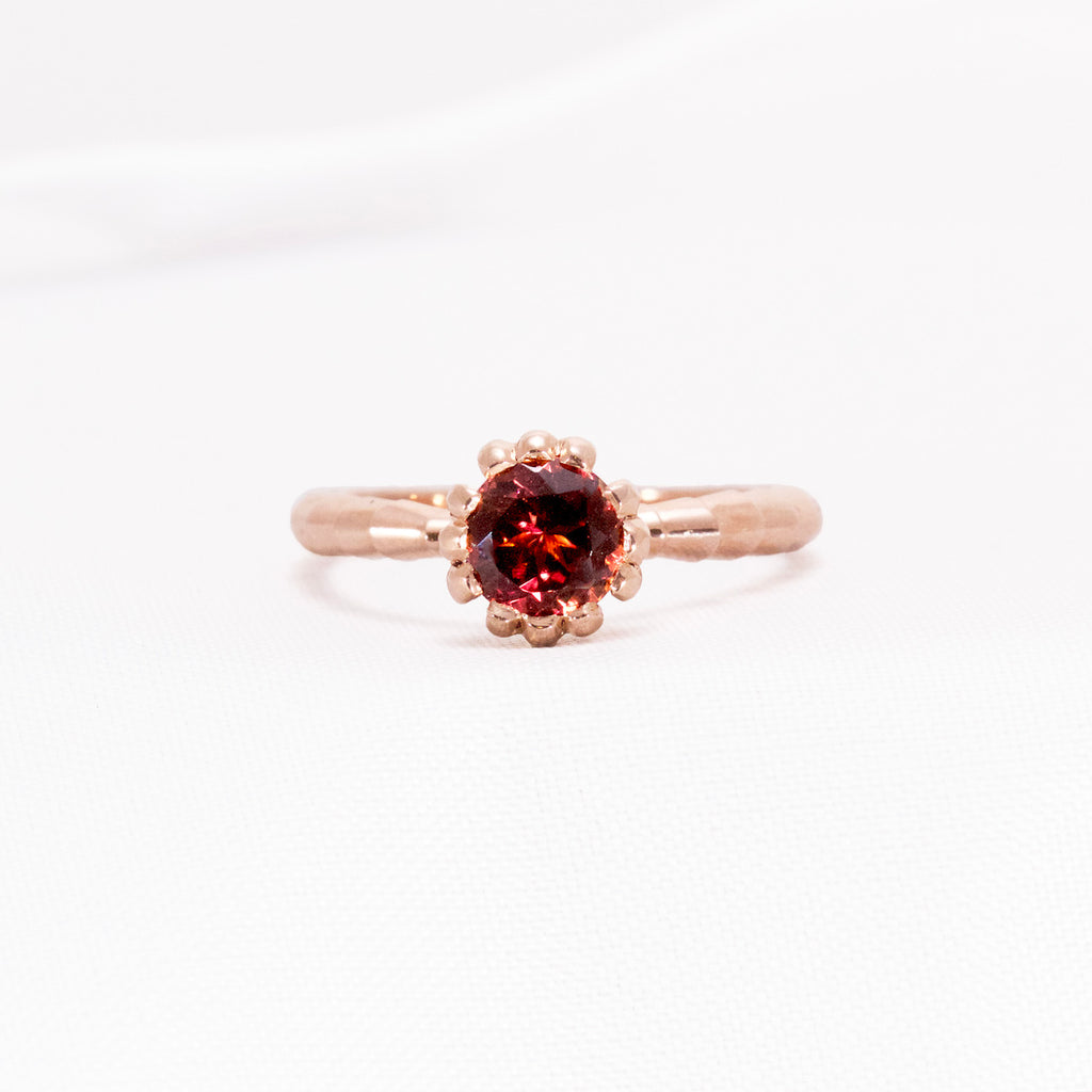 Tourmaline Rose Gold Ring