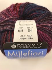 Millefiori Light, 50% Wool, 50% Acrylic, 100 gm/3.5 oz