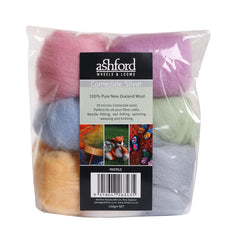 Ashford Corriedale Fibre theme packs and sampler packs