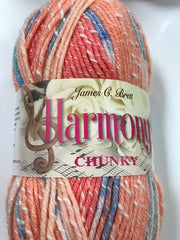 Harmony Chunky  by Brett Yarns, 78% Acrylic, 22% Cotton, 100 gms (3.5 oz)