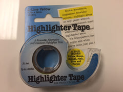 Highligher Tape, yellow, 1/2""