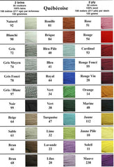 Quebecoise 100% wool weaving yarn