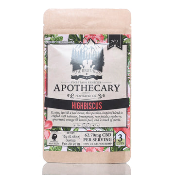 The Brothers Apothecary Hemp CBD Tea - Highbiscus
