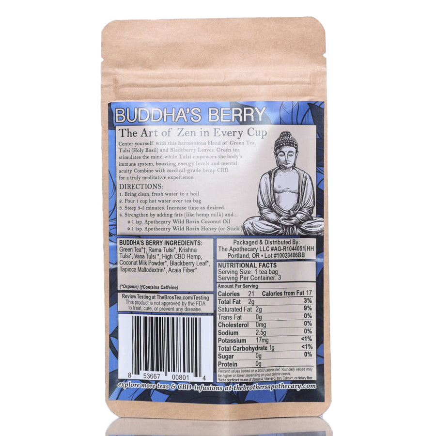 The Brothers Apothecary Hemp CBD Tea - Buddha's Berry
