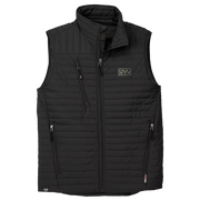 MEN'S STORM CREEK ECO-INSULATED QUILTED VEST- Pleather Mono Patch